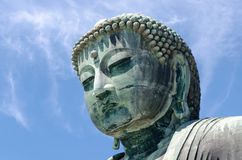 巨大菩萨Daibutsu雕塑,镰仓,东京,日本 库存图片