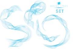 巨大集合蓝色混合巨型的波浪浇灌抽象背景为 图库摄影