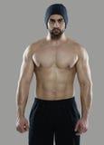 巨大锻炼 肌肉专业爱好健美者画象和 库存照片
