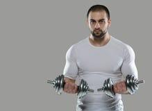 巨大锻炼 肌肉专业爱好健美者画象和 免版税库存照片