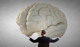 巨大头脑概念 免版税库存图片