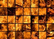 巨大35个篝火的片段 库存图片