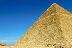 巨大pyramide端 免版税库存照片