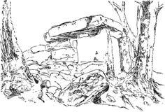 巨石结构,传染媒介 草图 概述图表 库存照片