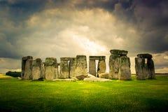 巨石阵纪念碑在威尔特郡,英国 免版税库存图片