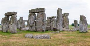 巨石阵,萨利平原,中央英国 免版税库存照片