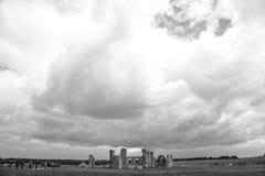 巨石阵- B&W 图库摄影