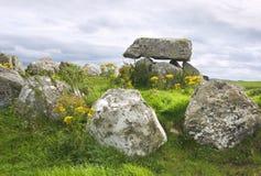 巨石carrowmore的墓地 库存照片