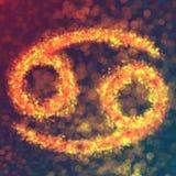 巨蟹星座占星标志 免版税库存图片