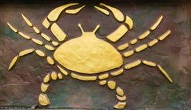 巨蟹星座标志 库存照片