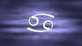 巨蟹星座黄道带标志的动画 皇族释放例证