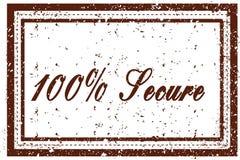 100%巩固棕色正方形困厄的邮票 免版税库存图片