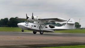 巩固的卡塔利娜PBY两栖飞船葡萄酒巡逻轰炸机 免版税库存照片