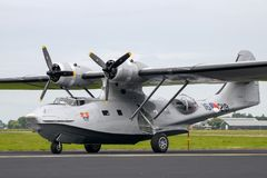 巩固的PBY卡塔利娜飞船 免版税库存照片