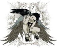 巫婆乌鸦 免版税图库摄影