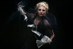 巫婆召唤。 免版税库存照片