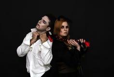 巫婆和吸血鬼 库存照片