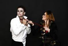 巫婆和吸血鬼 免版税库存照片