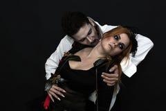 巫婆和吸血鬼 库存图片