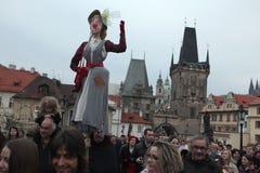 巫婆夜在布拉格 库存照片