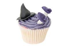 巫婆杯形蛋糕 库存照片