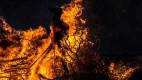 巫婆燃烧 免版税图库摄影