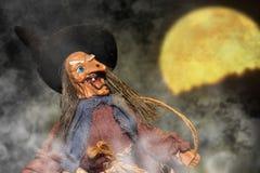 巫婆玩偶小雕象 免版税库存照片