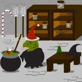 巫婆的圣诞节 免版税库存图片