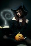 巫婆的女儿 库存照片