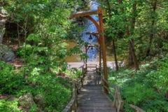 巫婆谷是一种暗藏的吸引力在威斯康辛小山谷并且能 库存照片