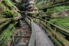 巫婆谷是一种暗藏的吸引力在威斯康辛小山谷并且能 免版税库存照片