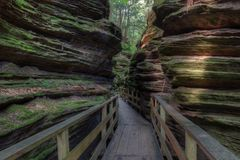 巫婆谷是一种暗藏的吸引力在威斯康辛小山谷并且能 库存图片