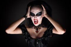 巫婆 可怕呼喊 库存照片