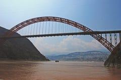 巫山桥梁 库存图片