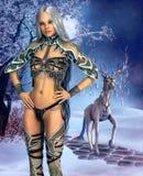 巫师和她的宠物 免版税库存照片