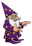 巫术师动画片吉祥人指向 库存照片