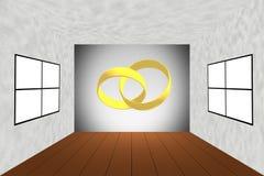 已婚夫妇婚戒新的家庭概念 库存例证