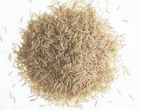 巴丝马香米棕色有机米 库存照片
