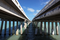 巴伊亚本田桥梁,佛罗里达关键字 免版税库存图片