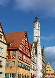 巴伐利亚德国河rothenburg tauber 免版税库存图片