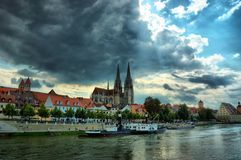 巴伐利亚德国遗产老雷根斯堡科教文&# 免版税库存照片
