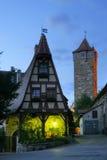 巴伐利亚德国rothenburg 库存图片