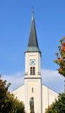 巴伐利亚教会heilig kreuz osterhofen 免版税图库摄影