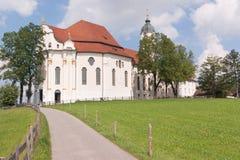 巴伐利亚教会wies 图库摄影