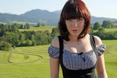 巴伐利亚方式妇女 免版税图库摄影