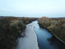 巴伐利亚河伊萨尔河 免版税库存照片