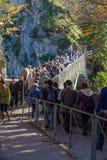 巴伐利亚,德国- 2017年10月15日:在Marienbru的游人立场 库存照片