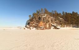 巴伦支海雪海岸。 免版税库存照片