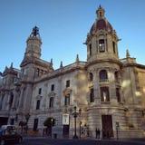 巴伦西亚城镇厅- Ayuntamiento de巴伦西亚 库存照片