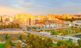 巴伦西亚市视图,西班牙 免版税库存图片